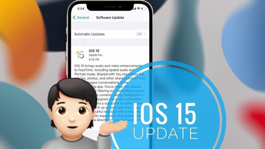 iOS 15 update