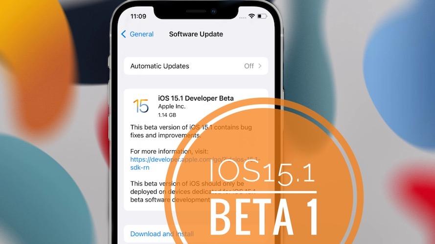 iOS 15.1 Beta 1 update