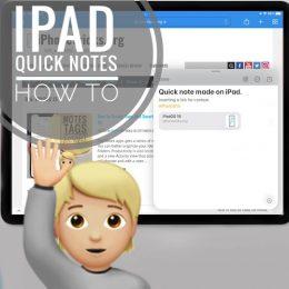 iPad Quick Notes