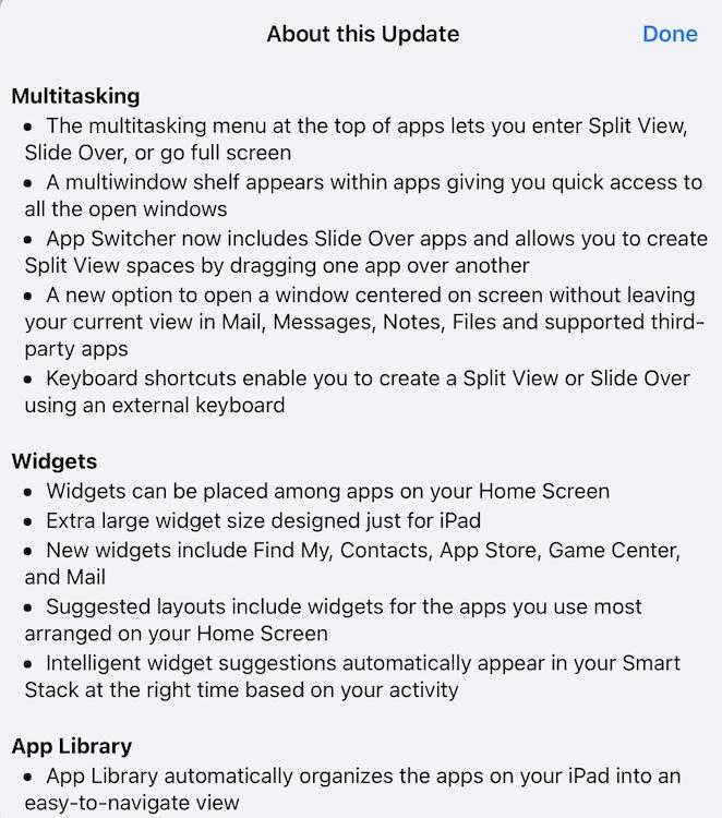iPadOS 15 release notes