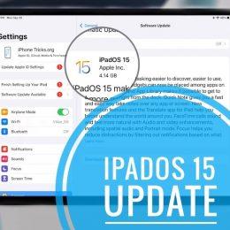 iPadOS 15 update