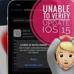 iPhone 13 Unable to Verify Update error