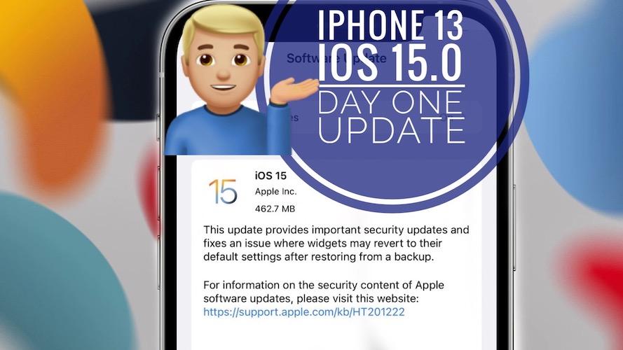 iPhone 13 iOS 15 update