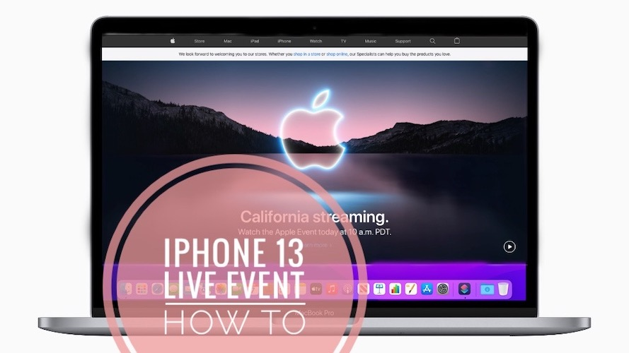 iPhone 13 live event on computer