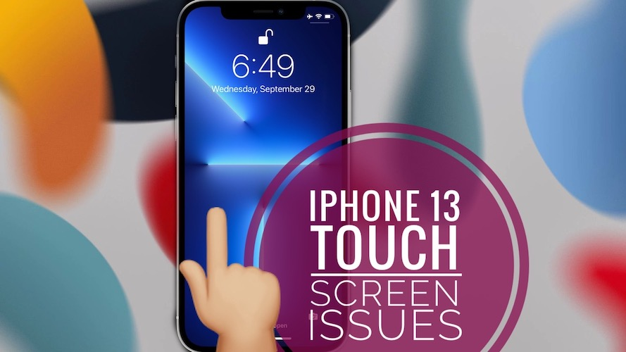 iPhone 13 touch screen not working