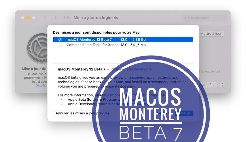 macOS Monterey Beta 7 update