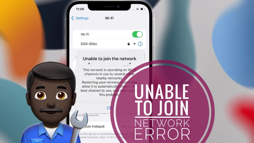 unable to join network wi-fi error