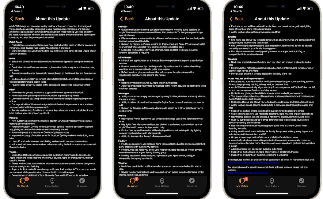 watchos 8 release notes