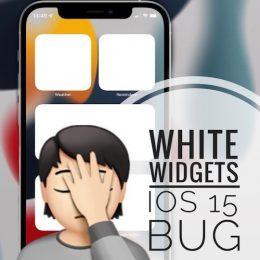 white widgets bug in iOS 15