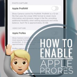 Apple ProRes In Settings iOS 15