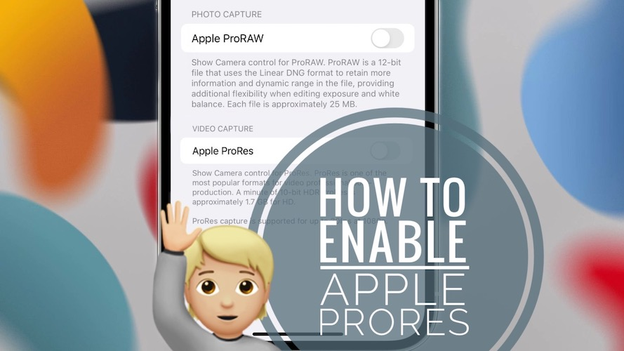Apple ProRes In Settings iOS 15.1
