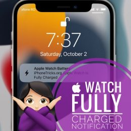 Apple Watch fully charged notification