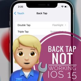 Back Tap not working on iPhone