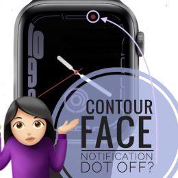 Contour Watch Face notification dot off center