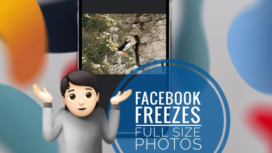 Facebook freezes when clicking pictures