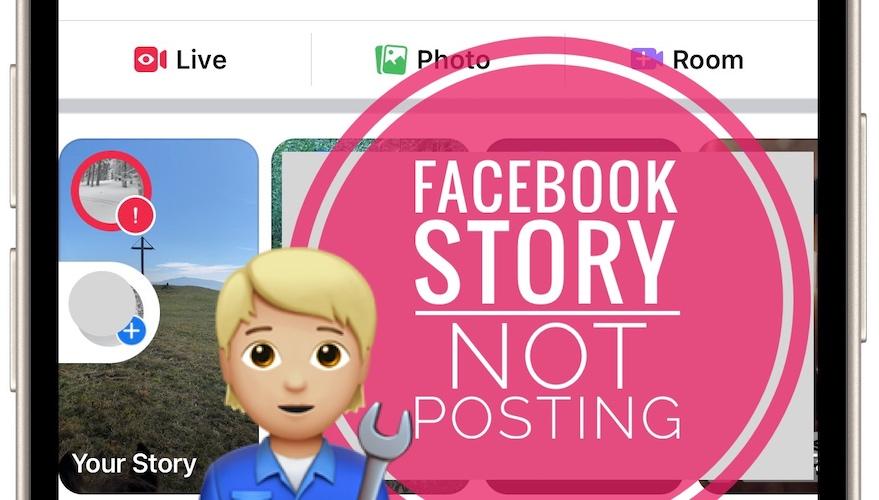 Facebook story not posting