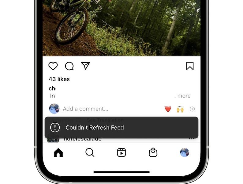 Instagram couldn't refresh feed error