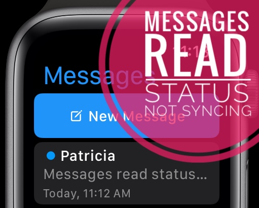 Messages read status not syncing between devices