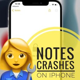 Notes Crashes on iPhone in iOS 15