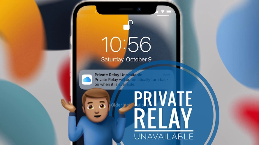 Private Relay Unavailable Notification