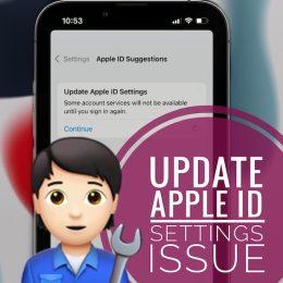 Update Apple ID Settings stuck