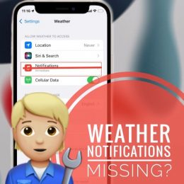 Weather Notifications missing in Settings