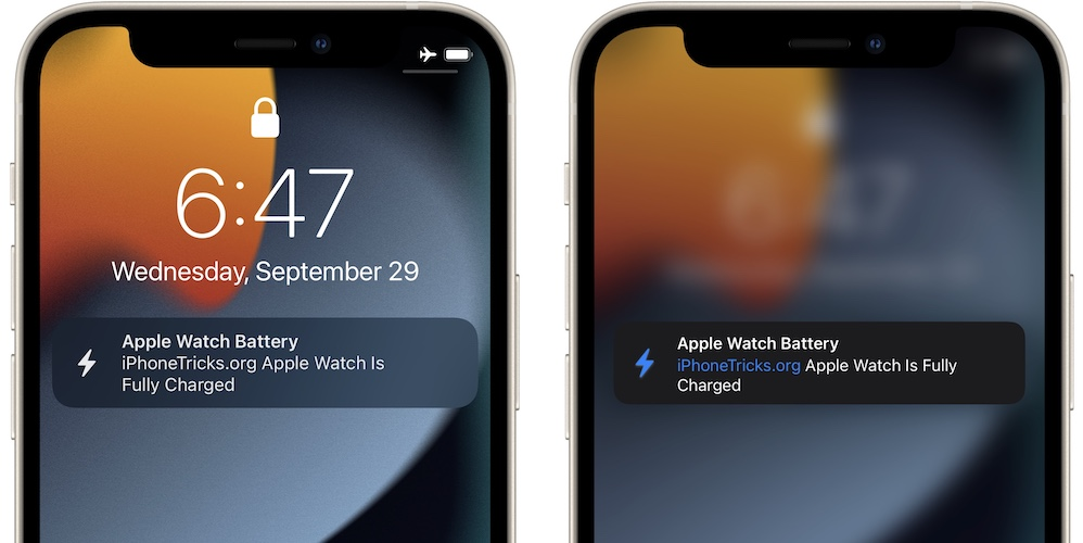 apple watch battery fully charged notification