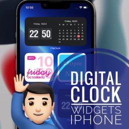 Digital clock widgets for iPhone