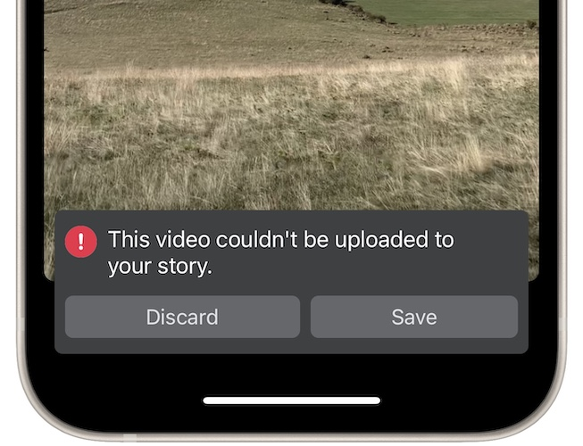 facebook this video couldn't be uploaded error