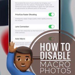 how to disable Macro Photos