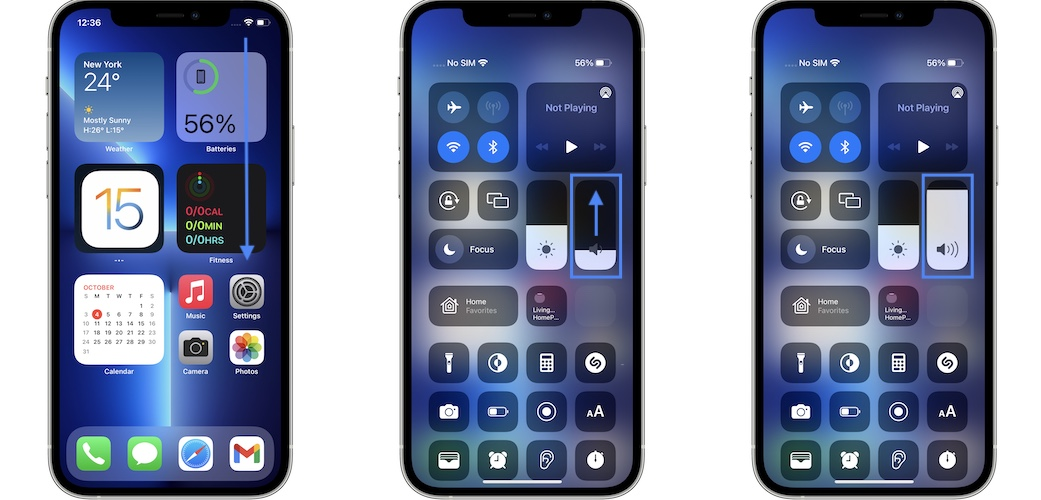 how to turn up media volume on iPhone