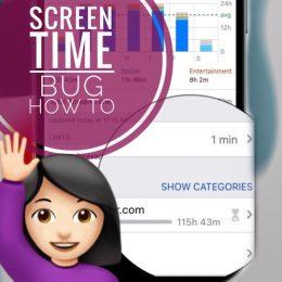 iOS 15 Screen Time bug
