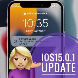 iOS 15.0.1 update
