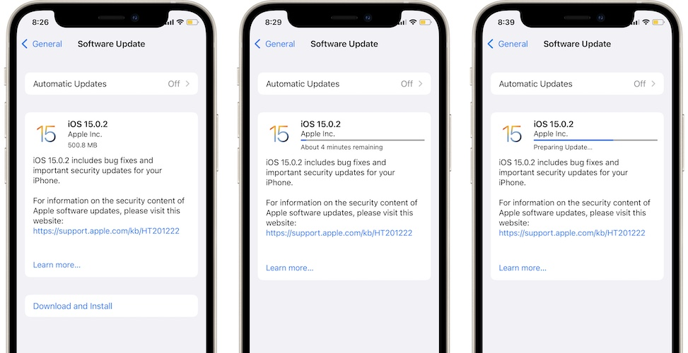 iOS 15.0.2 download