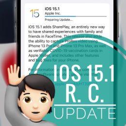 iOS 15.1 RC update