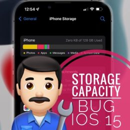 iPhone Storage bug in iOS 15