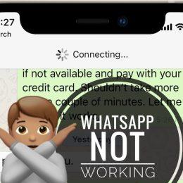WhatsApp not working